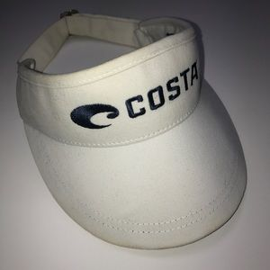 COSTA WHITE VISOR HAT MENS WOMENS NAVY BLUE
